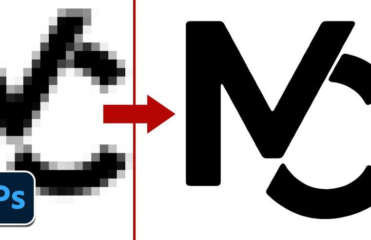 Convertire un logo in bassa risoluzione in un file vettoriale con Photoshop