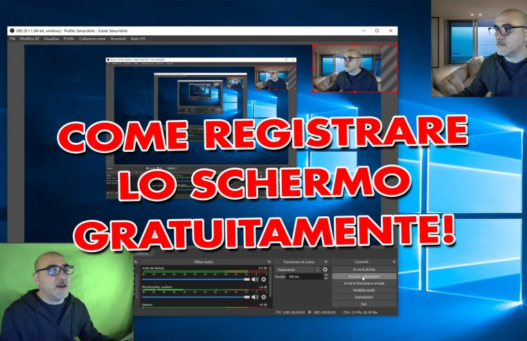 Come registrare lo schermo del computer gratuitamente su Windows 10, macOS, Linux con OBS Studio