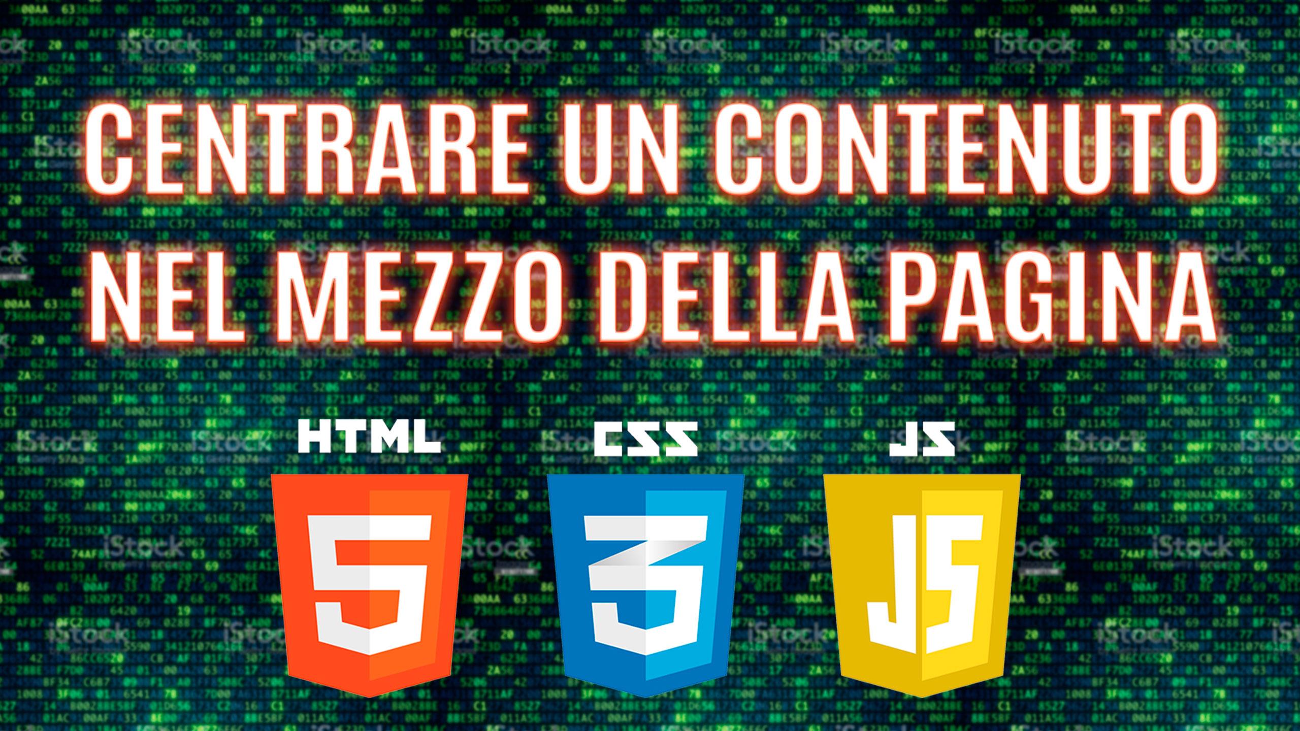 Centrare un titolo contenuto dentro ad un div nel mezzo della pagina html