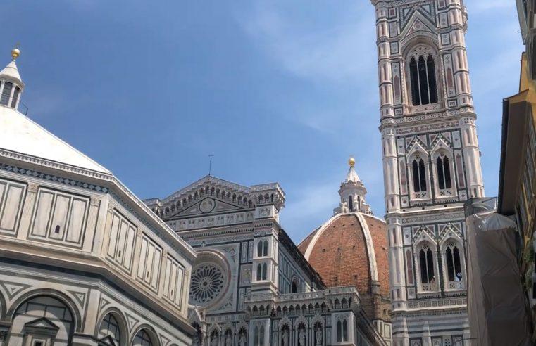 Firenze, vista del Battistero, Duomo e Campanile di Giotto
