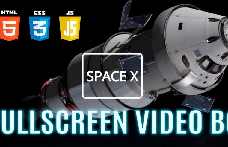 Impostare un video a tutto schermo come sfondo della pagina web, caricare un font di Google e creare un bordo stondato