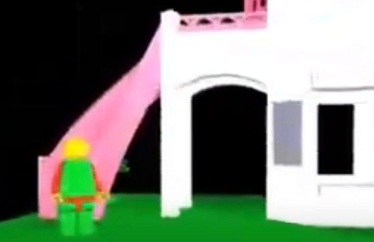 Lego realizzato con il 3D Studio in DOS – Anno 2001