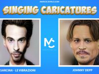 Singing Caricatures – Deepfake – Francesco Sarcina (Le Vibrazioni) & Johnny Depp Vieni da me (20sec)