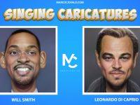 Singing Caricatures – Will Smith & Leonardo di Caprio singing 7 second of Dragostea Din Tei ma ya hi