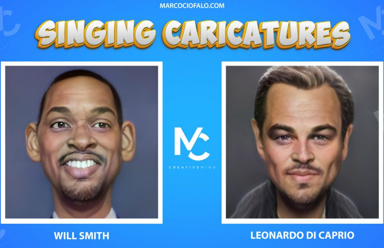 Singing Caricatures – Will Smith & Leonardo di Caprio singing 7 second of Dragostea Din Tei ma ya hi
